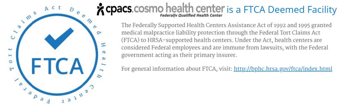 COSMO FTCA Disclaimer