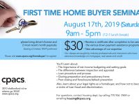 FLYER-2019_08 Homebuyer seminars