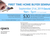 FLYER-2019_09 Homebuyer seminars