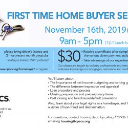 FLYER-2019_11 Homebuyer seminars